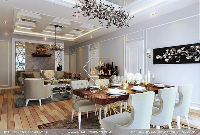 thiet ke noi that phong khach phong cach luxury