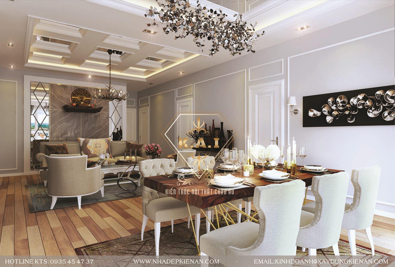 Thiết kế nội thất căn hộ phong cách luxury