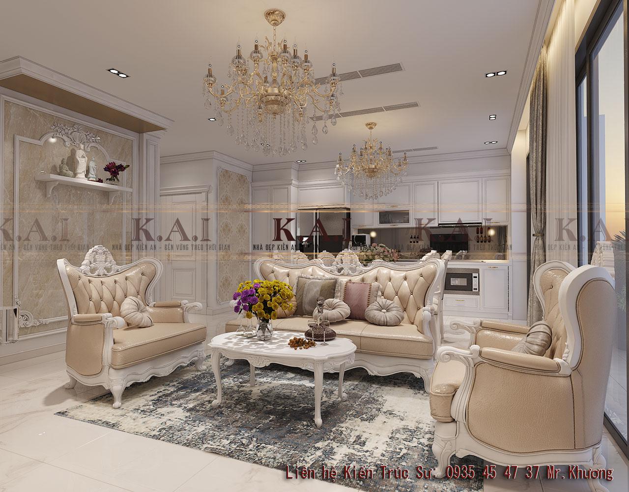 Thiết kế nội thất căn hộ luxury căn hộ Vinhome Bason Quận 1