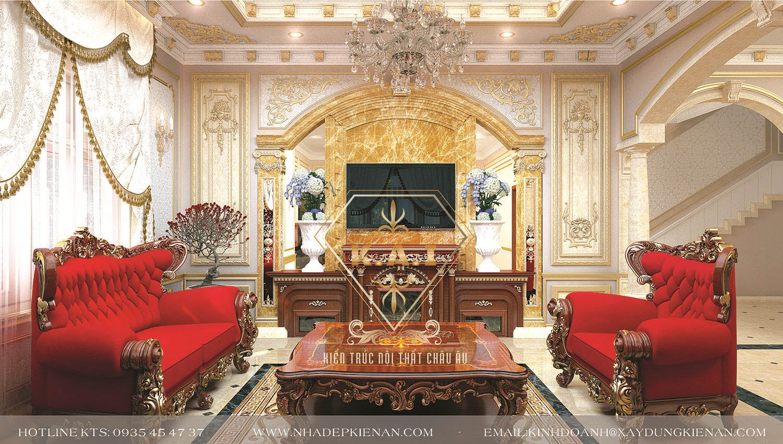 Thiết kế nội thất phòng khách cổ điển