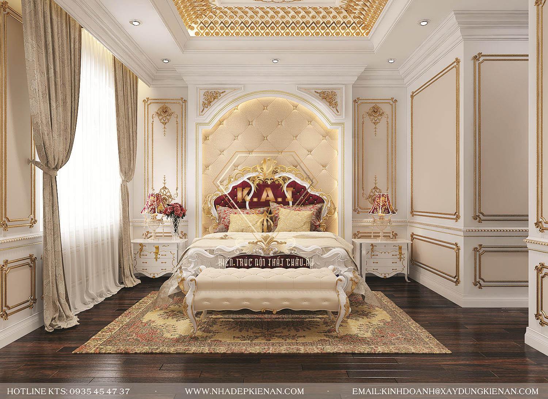 Mẫu thiết kế nội thất phòng ngủ cổ điển theo phong cách Châu Âu