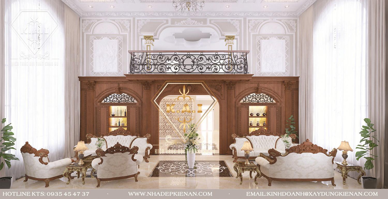 Mẫu thiết kế nội thất biệt thự phong cách cổ điển châu âu tại Hà Nội