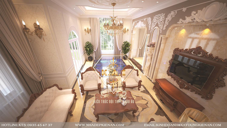 Mẫu thiết kế nội thất biệt thự cao cấp phong cách tân cổ điển châu âu