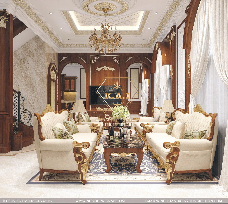 Đắm say của sự kết hợp trong mẫu thiết kế nội thất biệt thự cổ điển cùng gỗ tự nhiên