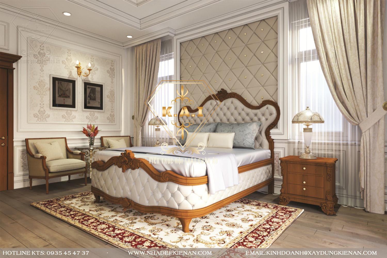 Mẫu thiết kế nội thất biệt thự đẹp phong cách bán cổ điển châu âu tại Gò Vấp