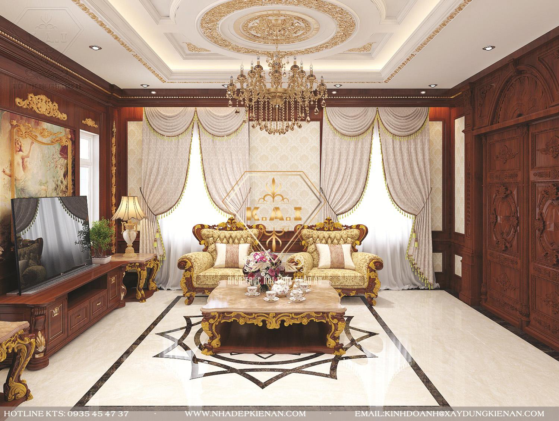 Mẫu thiết kế nội thất gia đình theo phong cách cổ điển cho ngôi biệt thự song lập
