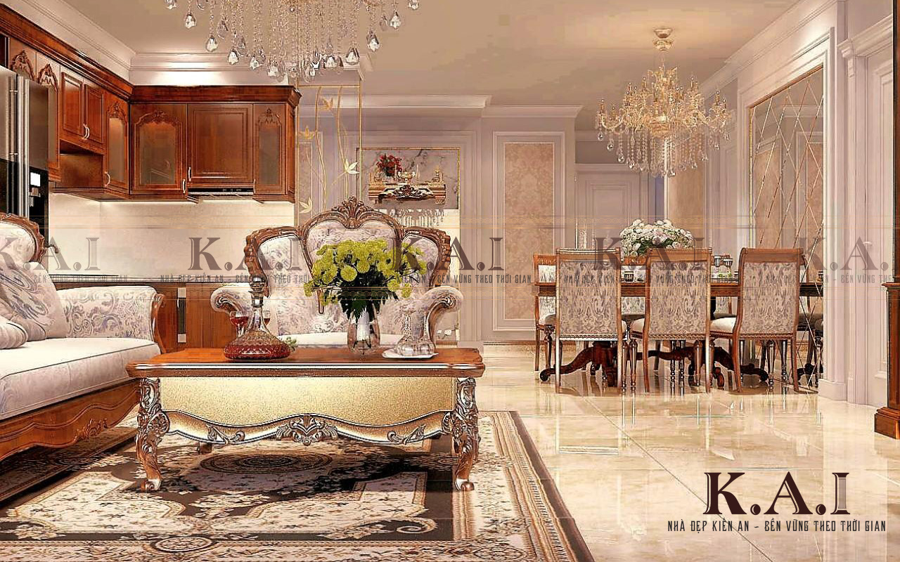 Thiết kế nội thất căn hộ 3 phòng ngủ cao cấp tại Aqua 2