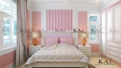 Thiết kế mẫu nội thất phòng ngủ tân cổ điển BTPN01 của anh Cường