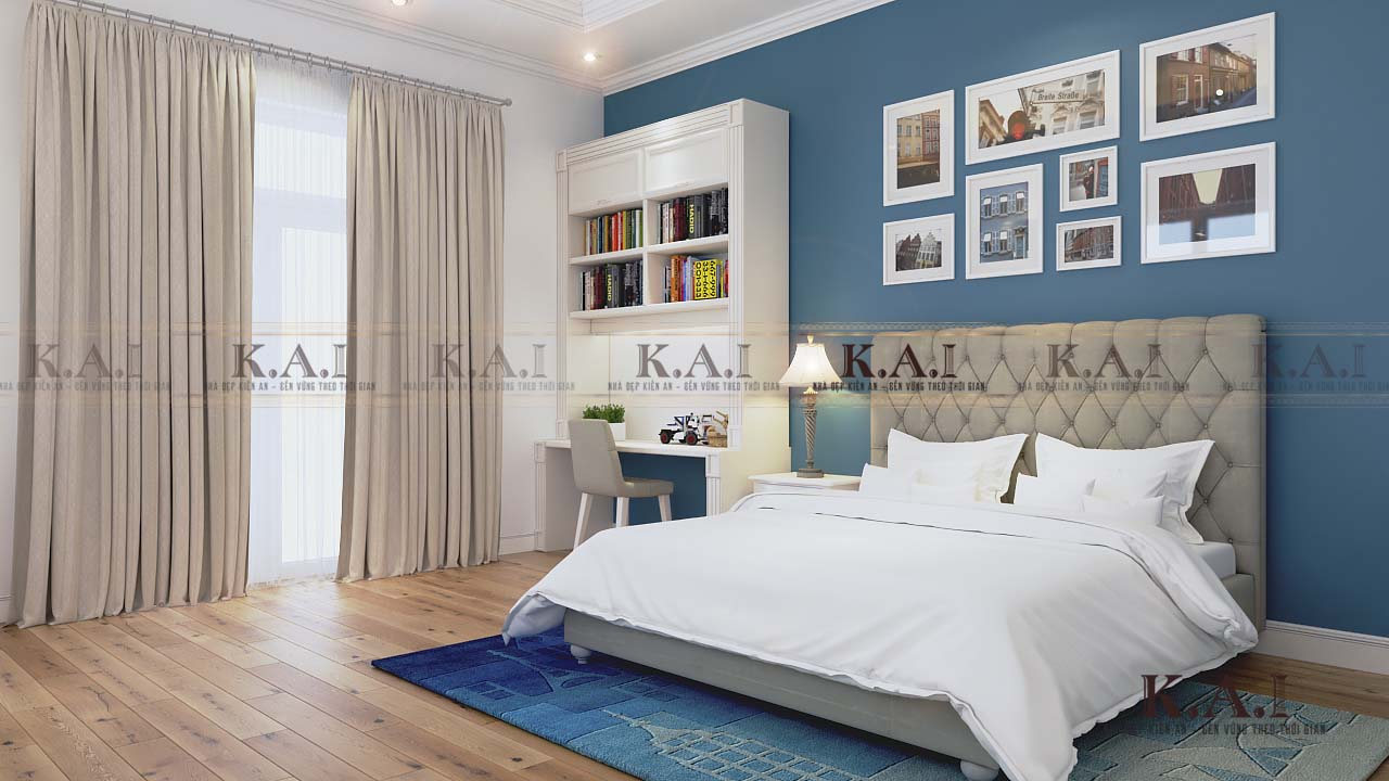 Thiết kế mẫu phòng ngủ tân cổ điển BTPN02