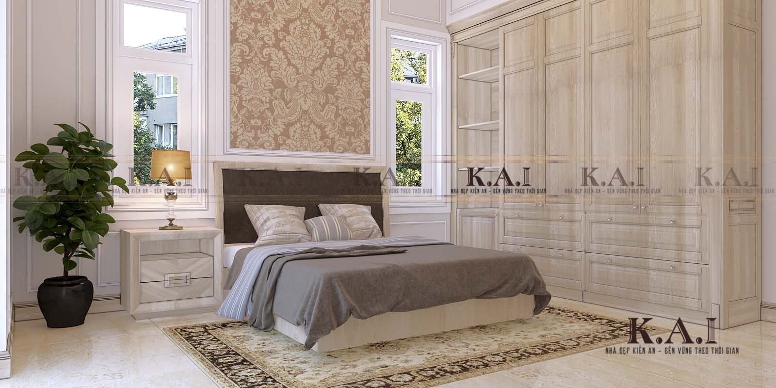mẫu phòng ngủ tân cổ điển BTPN03