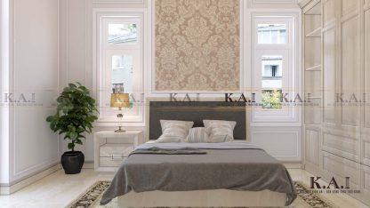 Thiết kế nội thất mẫu phòng ngủ tân cổ điển BTPN03 dành cho khách tới chơi nhà