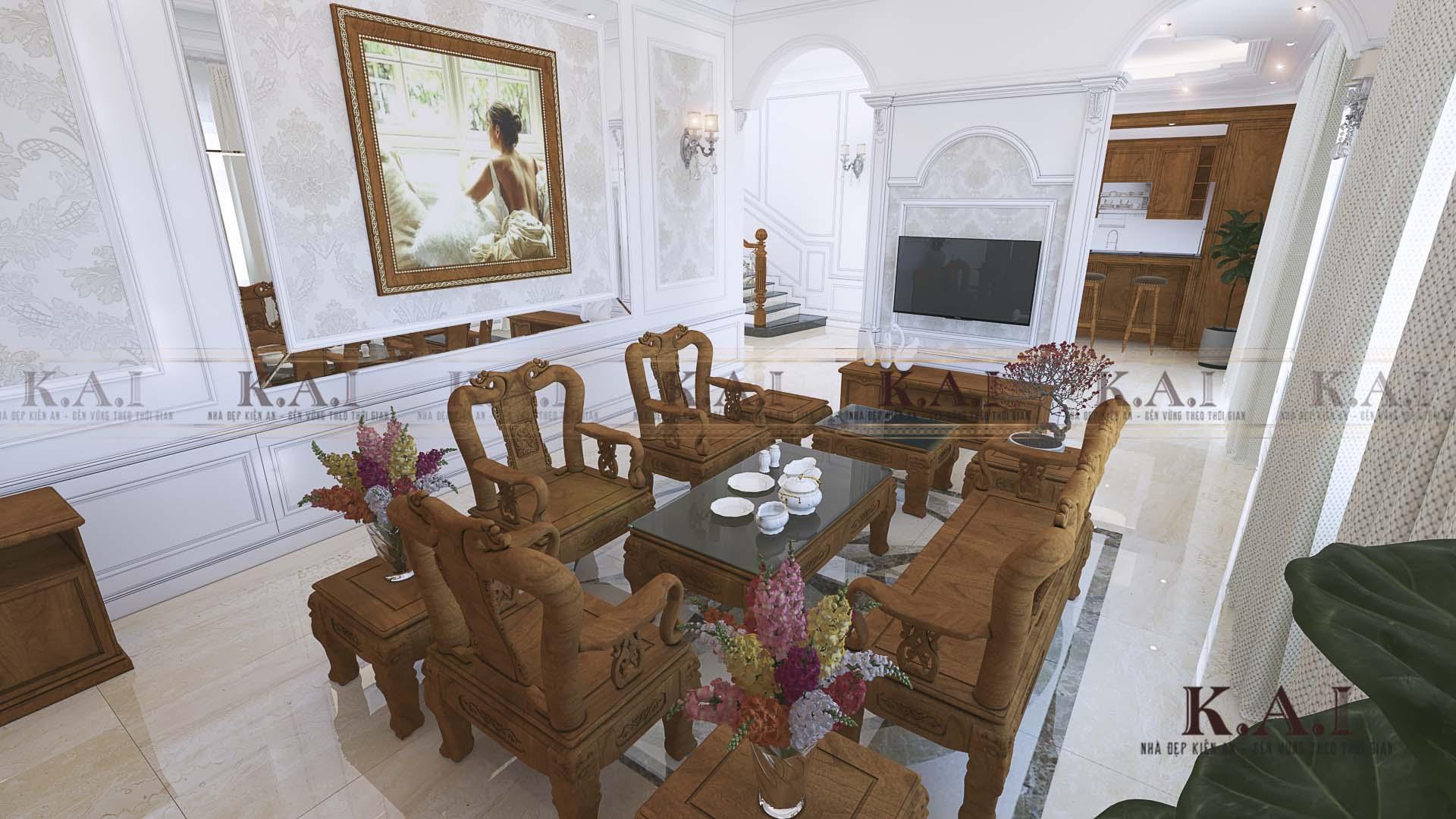 nội thất phòng khách tân cổ điển BTPK01