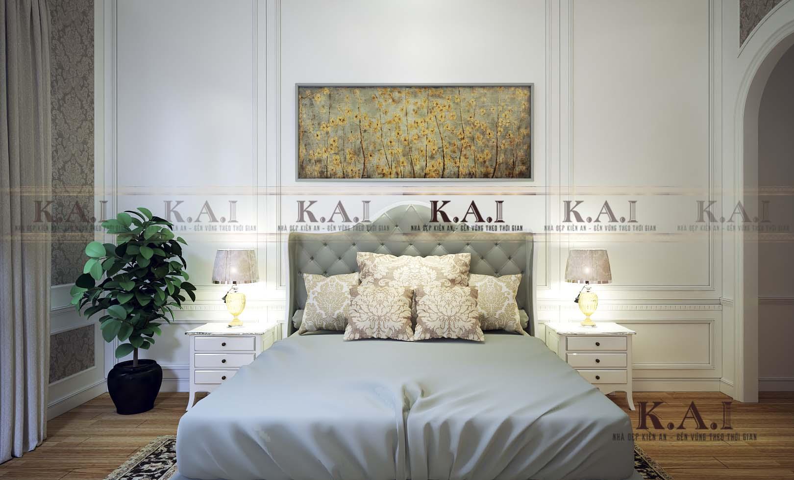 Đắm chìm cảm xúc trong mẫu thiết kế nội thất phòng ngủ tân cổ điển PNBT03 đẹp nhẹ nhàng nhưng không đơn điệu