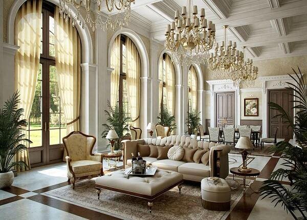 Đặc trưng về sự đối xứng, cân bằng và các vật liệu nội thất trong phong cách cổ điển