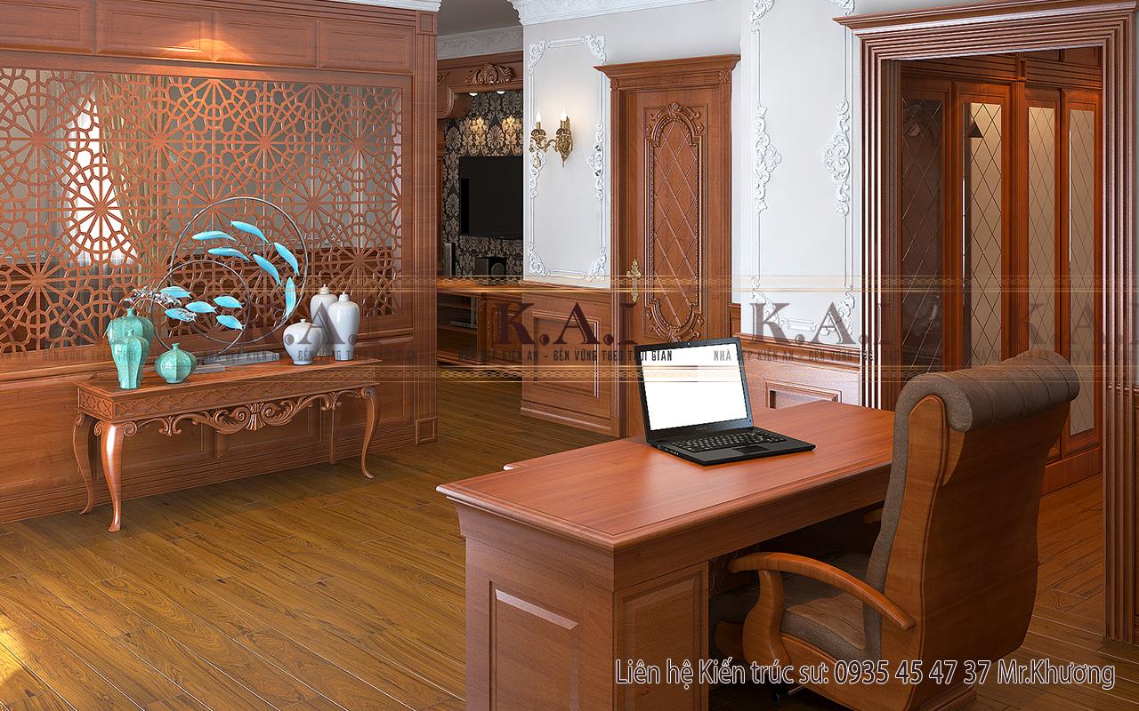 Thiết kế phòng ngủ master có bàn làm việc