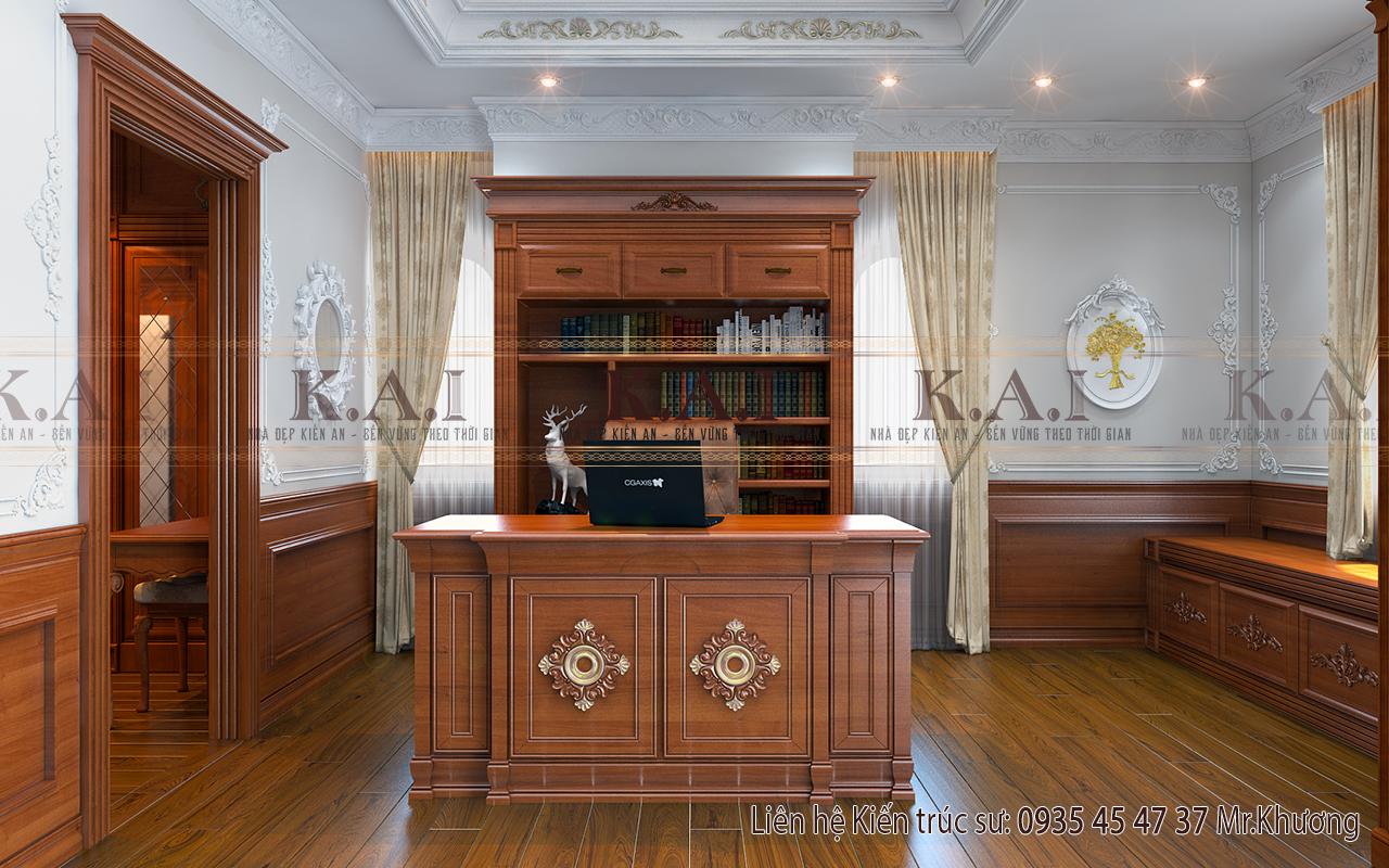 Mẫu thiết kế nội thất bàn làm việc trong phòng ngủ master