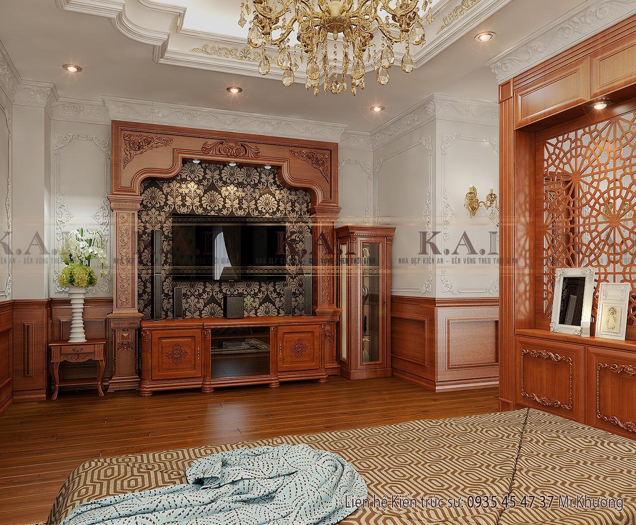 Mẫu thiết kế nội thất đẹp trong phòng ngủ master