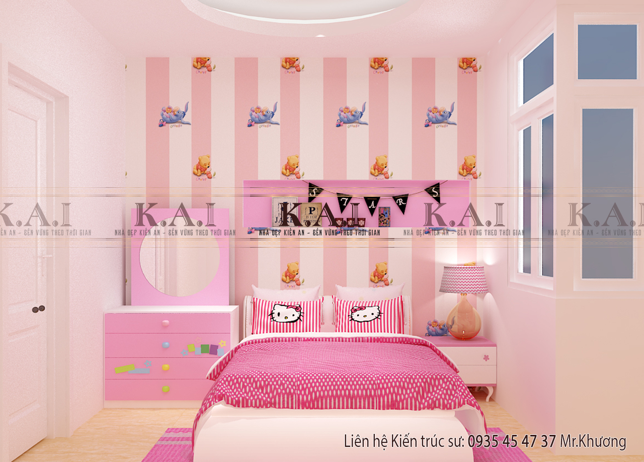 Thiết kế nội thất phòng ngủ cho nữ