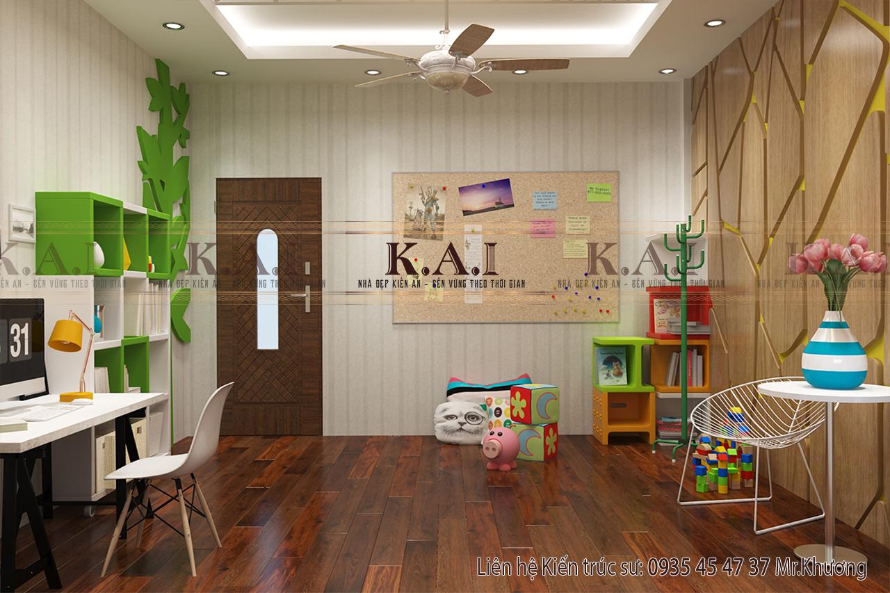 Thiết kế phòng học tập vui chơi