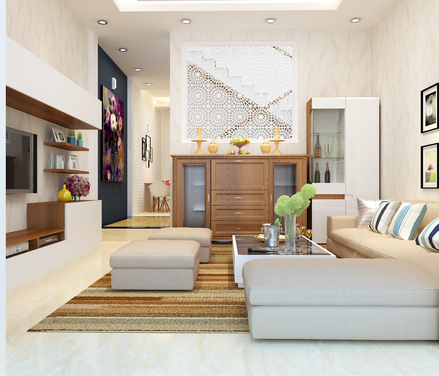 Mẫu thiết kế nội thất nhà phố hiện đại nới rộng không gian