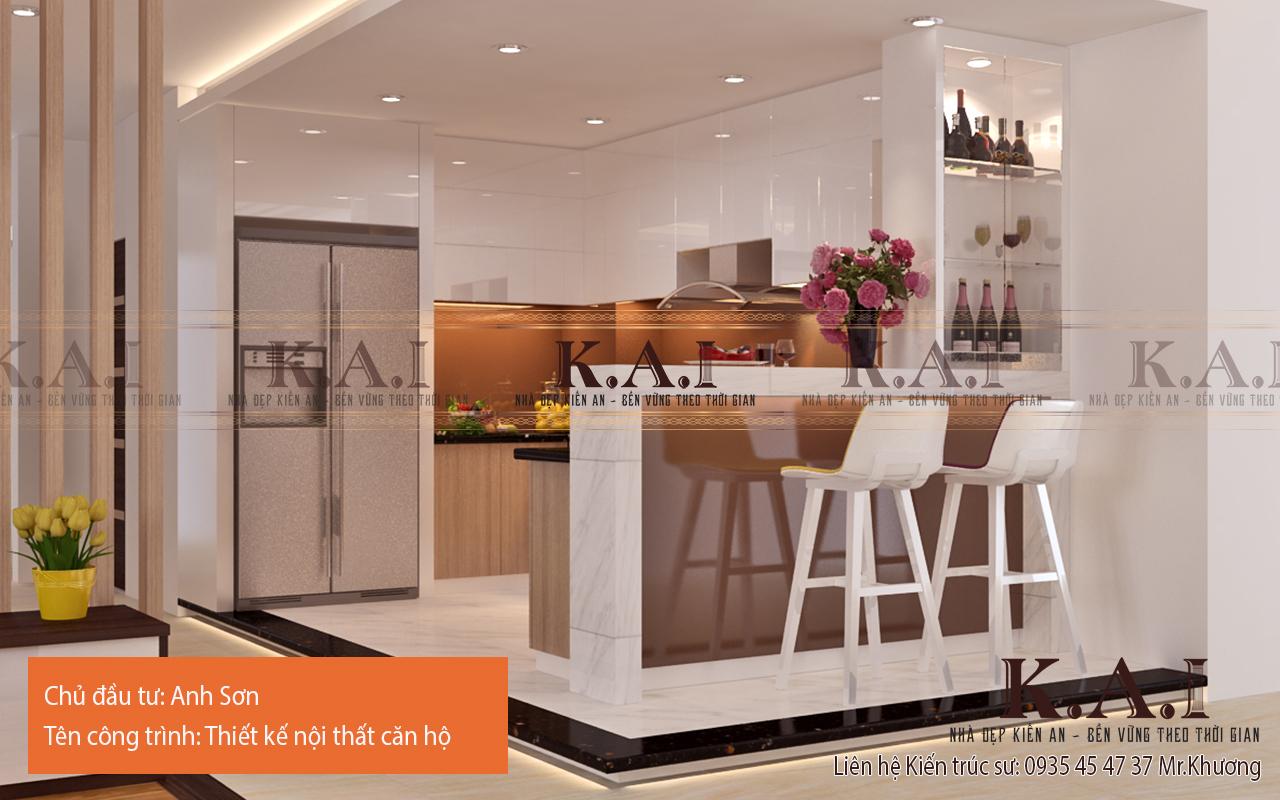 Thiết kế quầy bar để ngăn bếp và các khu vực khác