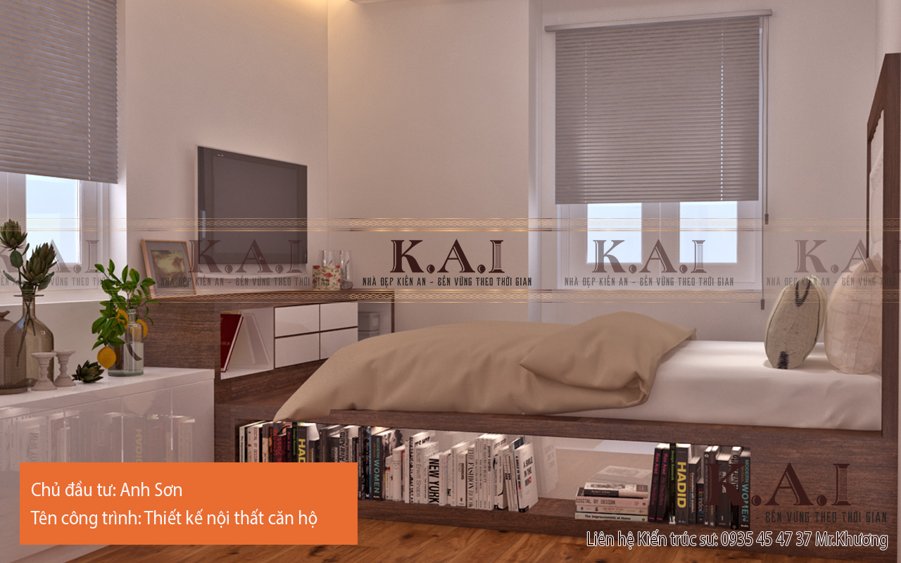 Dùng nội thất thông minh trong thiết kế phòng ngủ