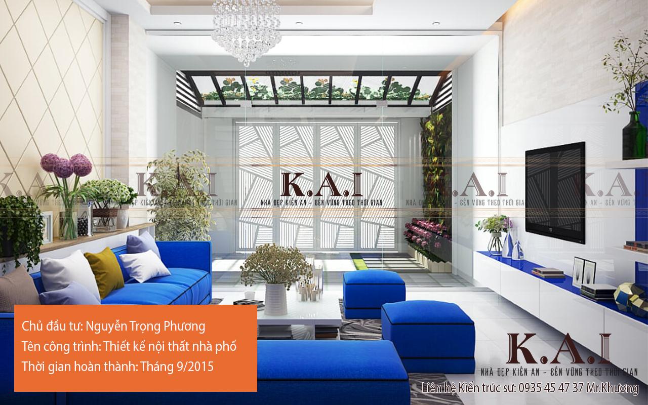 Thiết kế nội thất nhà phố của anh Phương – Bình Chánh TP.HCM