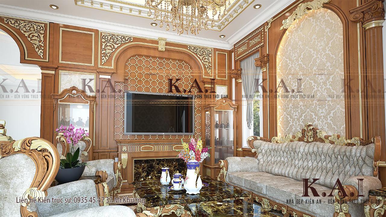 """Nội thất cổ điển ở các ngôi biệt thự nổi bật những quy chuẩn thiết kế và trang trí theo """"tỉ lệ vàng"""""""