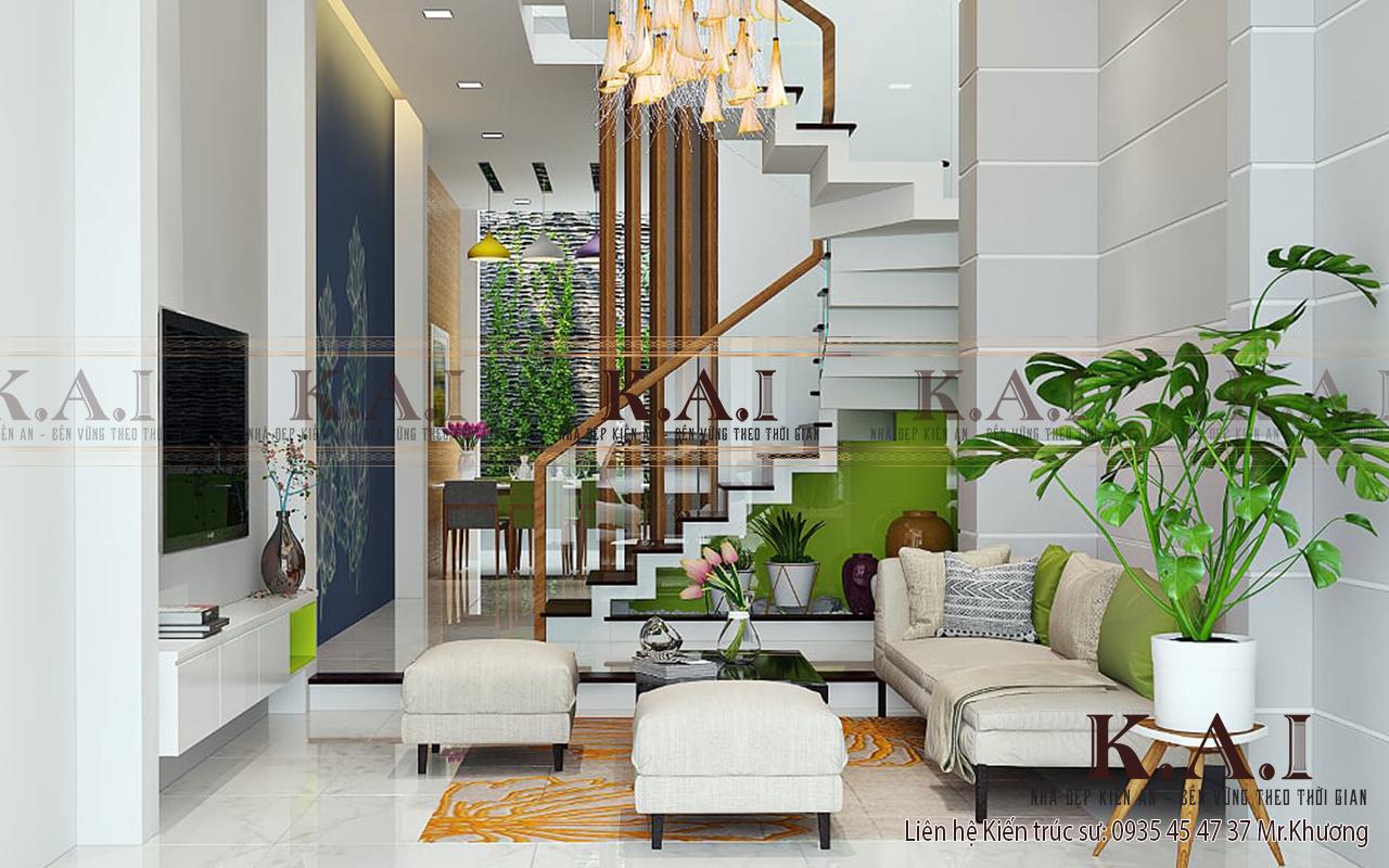 Kiến trúc sư vẫn đảm bảo phong thủy trong thiết kế nội thất nhà liền kề