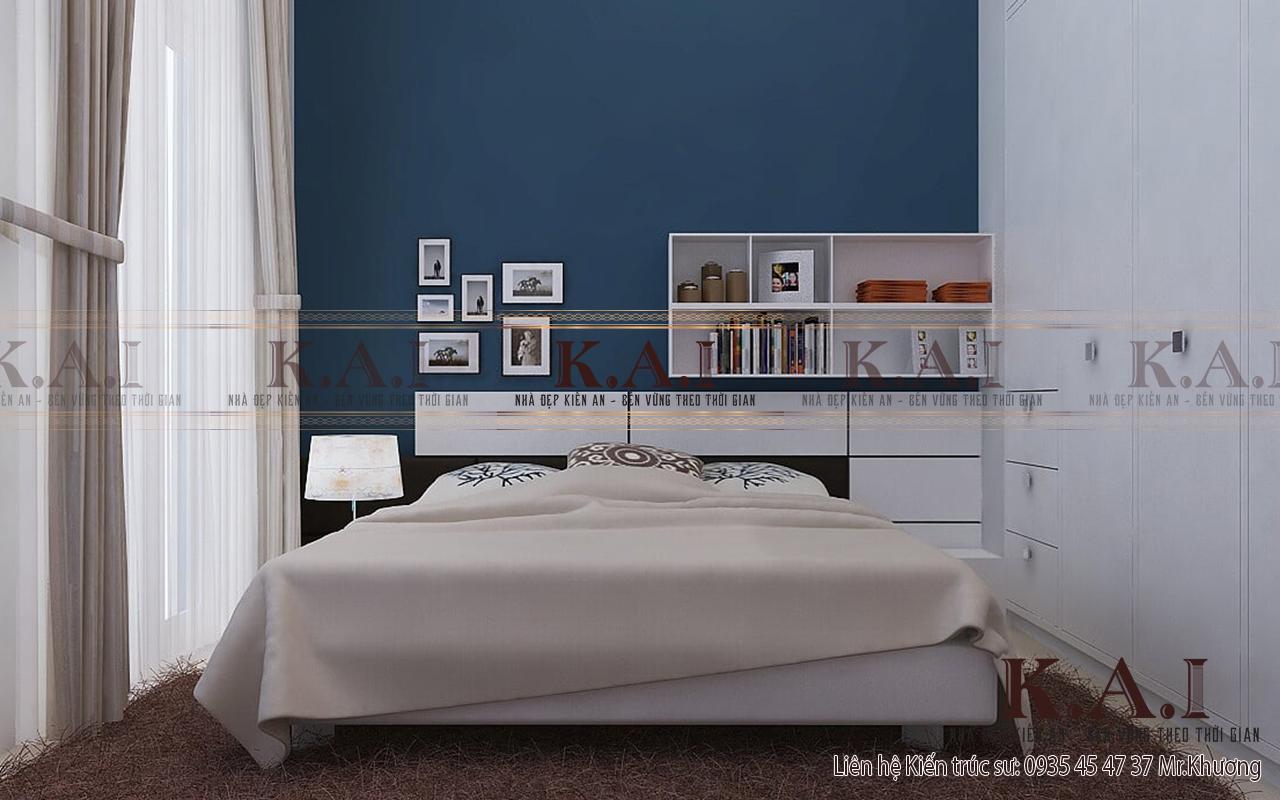 Phòng ngủ nhà phố hiện đại sắp xếp tối giản nội thất