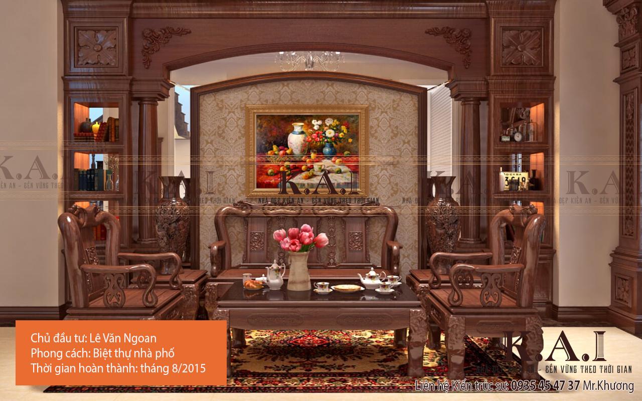 cách trang trí phòng khách bằng đồ gỗ