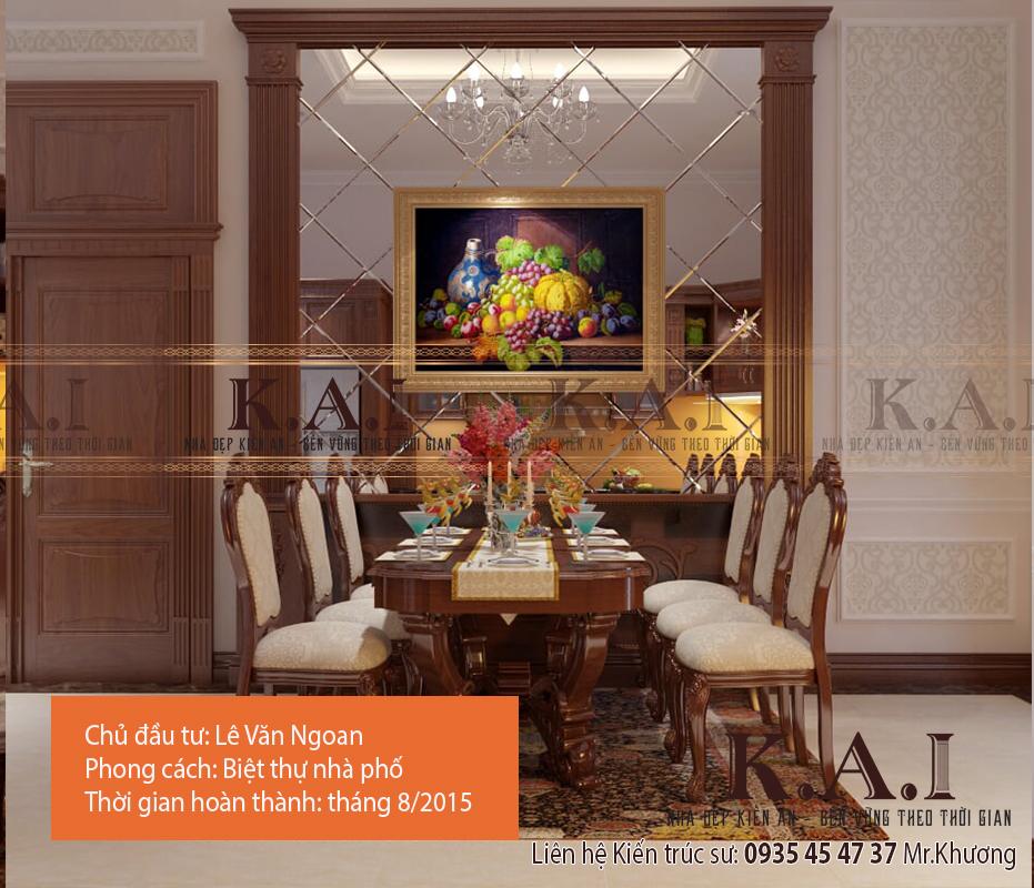 Mẫu thiết kế nội thất biệt thự phố đẹp – Anh Ngoan, Đồng Nai