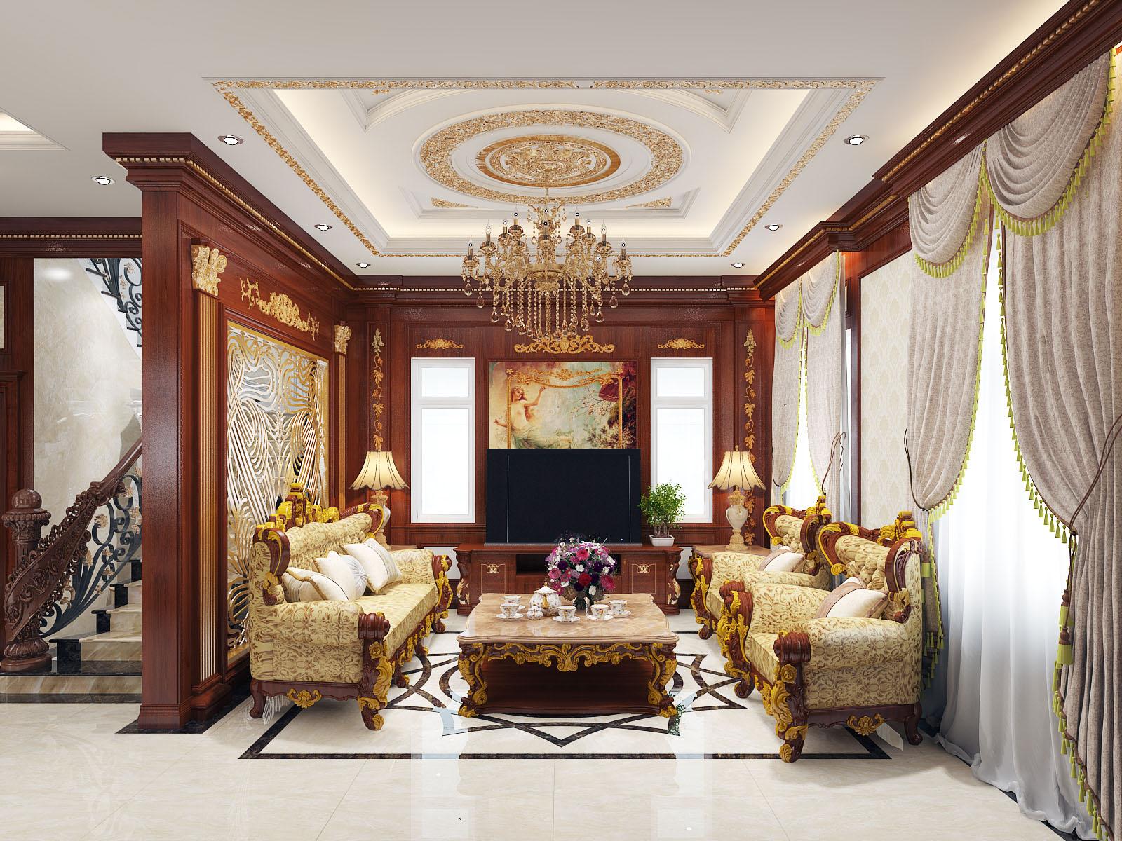 Mẫu thiết kế nội thất cổ điển cho biệt thự - anh Thảo, Thủ Đức