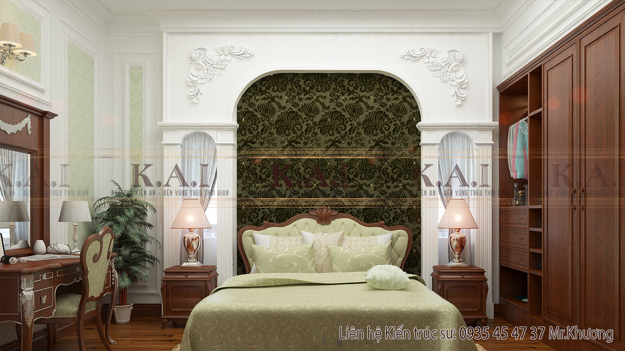 Lộng lẫy với nội thất cổ điển châu Âu của biệt thự ở Long An