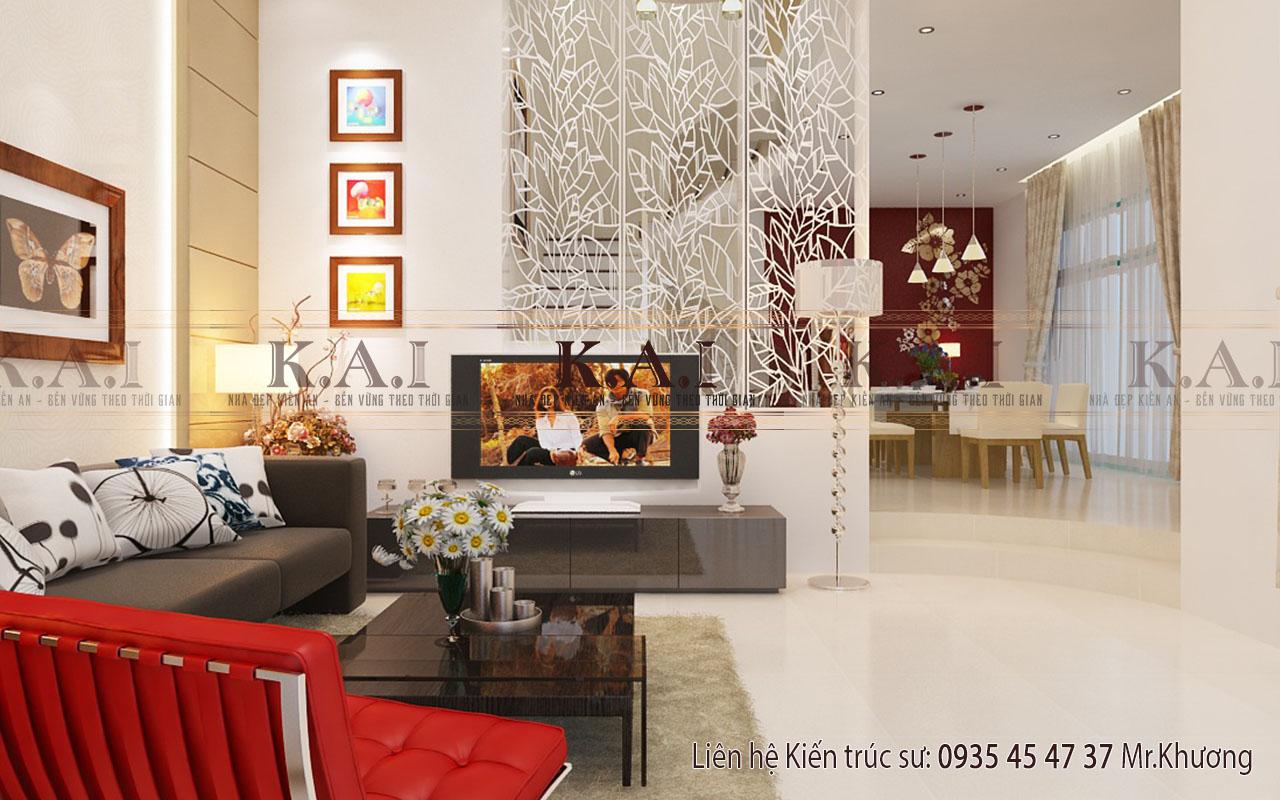 Mẫu thiết kế nội thất biệt thự hiện đại