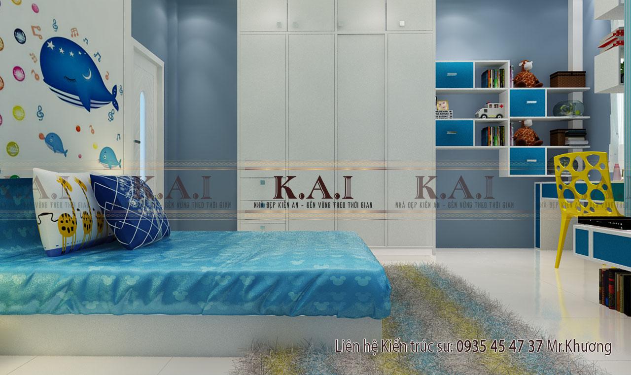 Mẫu thiết kế nội thất phòng ngủ nhà cấp 4 của vợ chồng trẻ ở Đồng Nai
