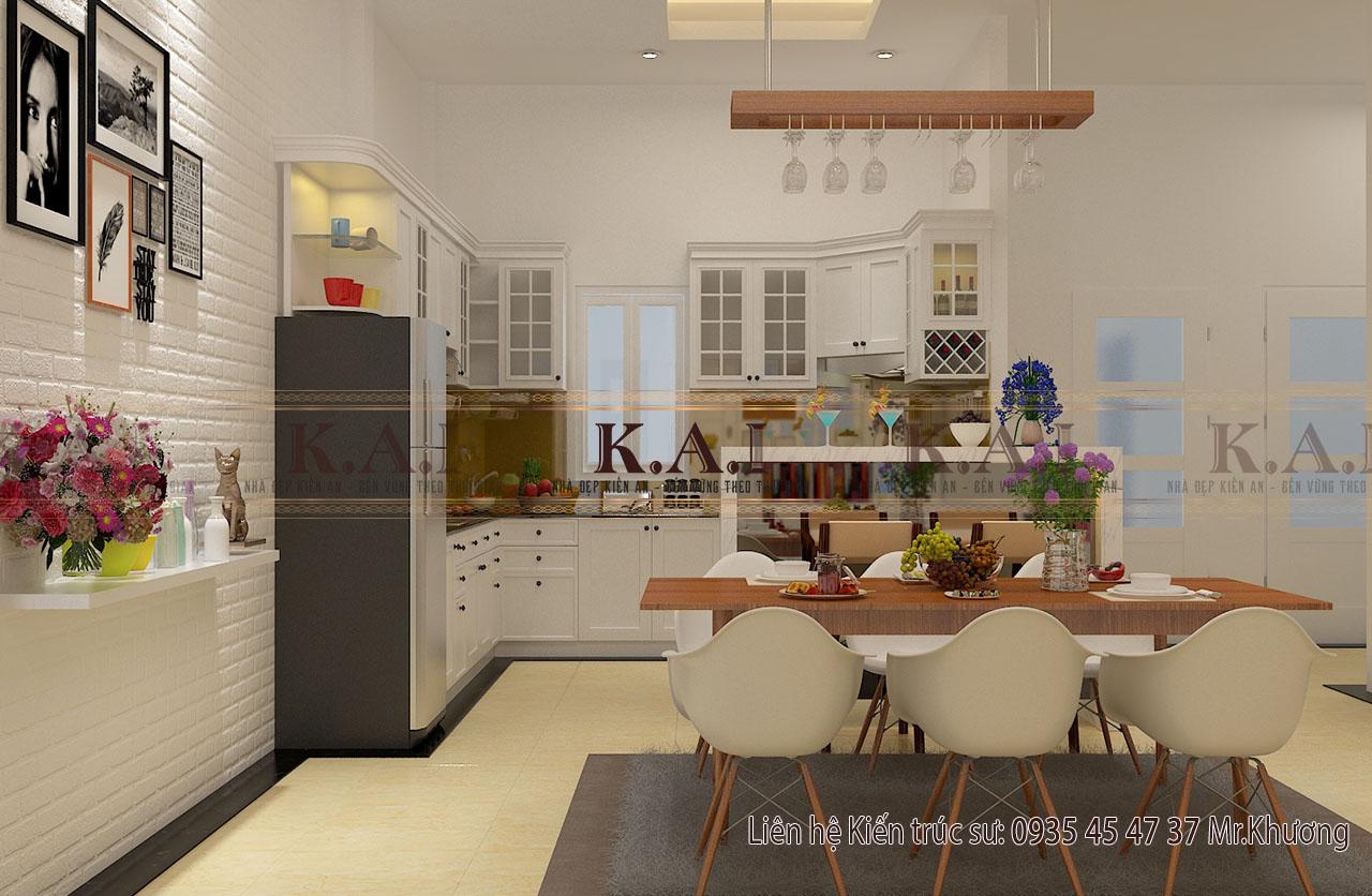 Mẫu thiết kế nội thất nhà cấp 4 của vợ chồng trẻ ở Đồng Nai - phòng bếp