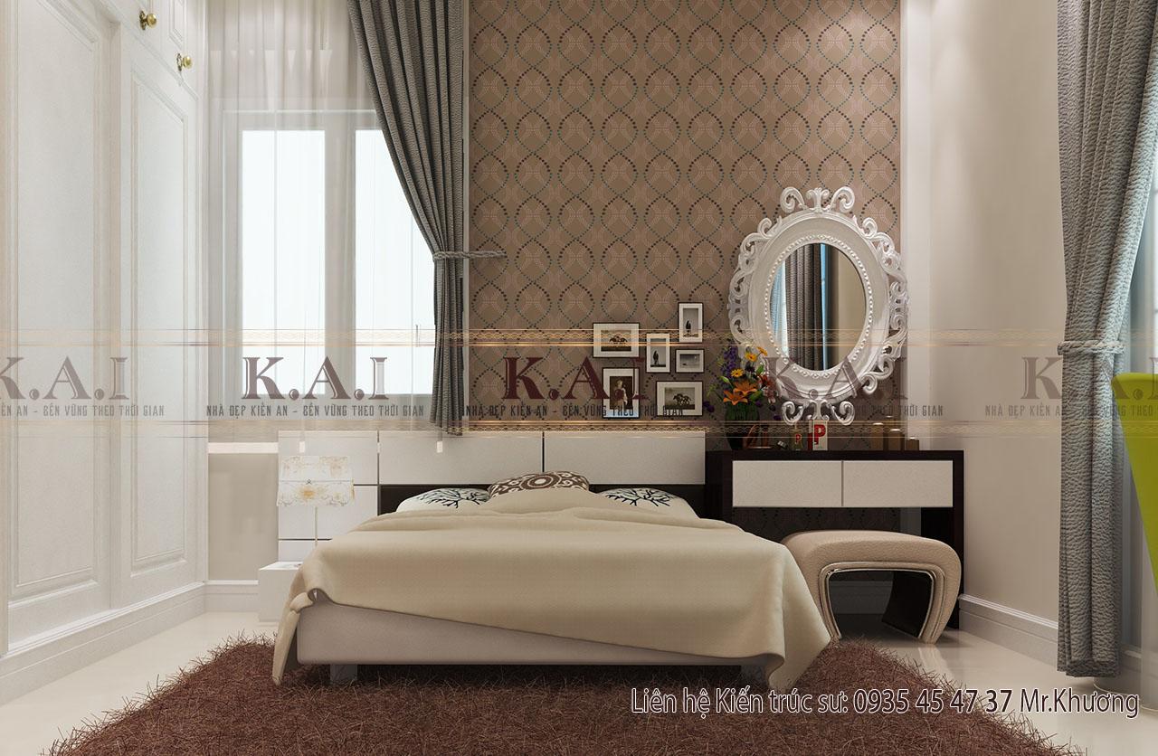 Mẫu thiết kế nội thất nhà cấp 4 của vợ chồng trẻ ở Đồng Nai - phòng ngủ