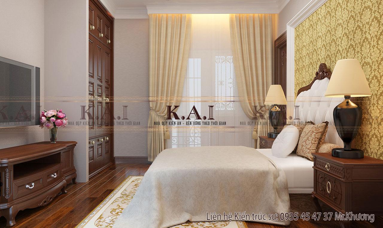 Thiết kế nội thất sang trọng trong phòng ngủ