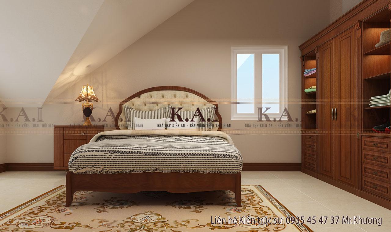 Nội thất phòng ngủ tầng áp mái