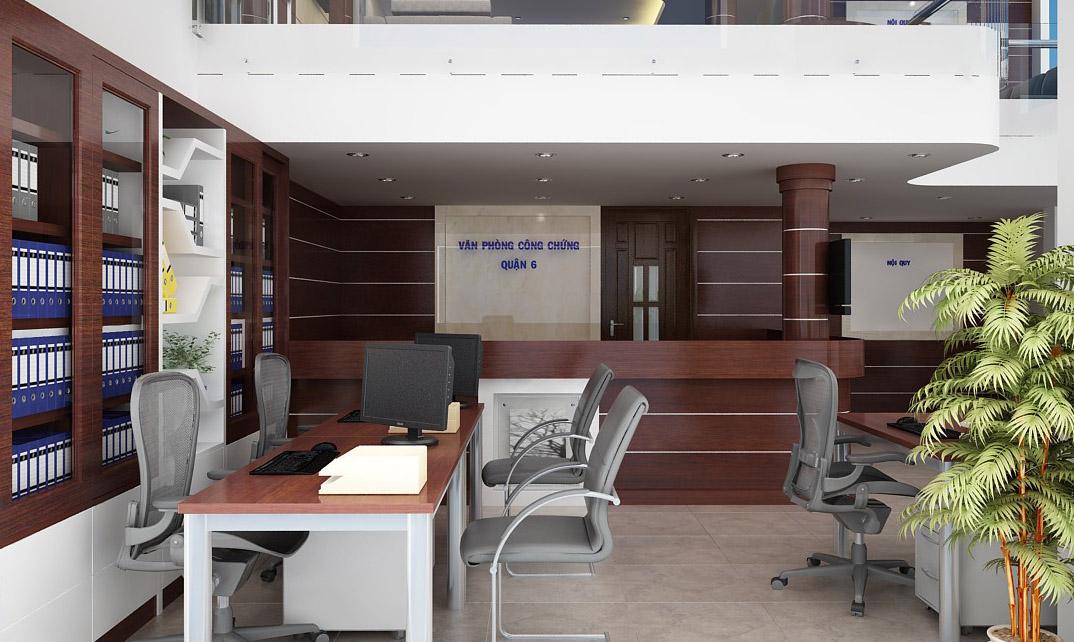 Công trình thiết kế nội thất văn phòng công chứng quận 6