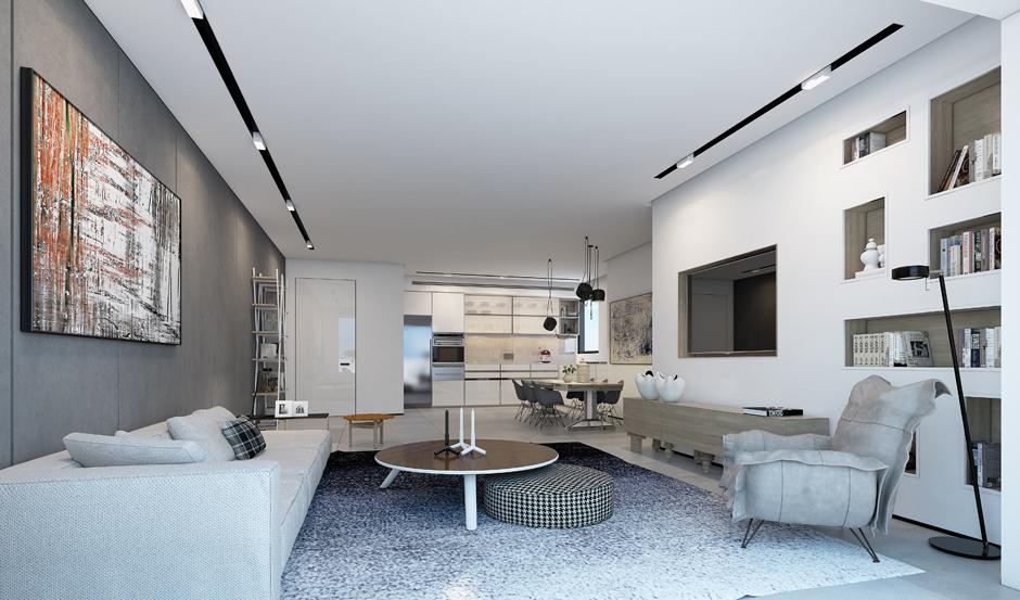 3 tone màu trắng trong thiết kế nội thất trang nhã sang trọng
