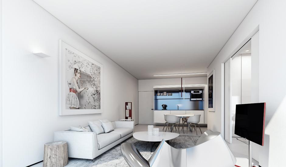Màu trắng trong thiết kế nội thất: