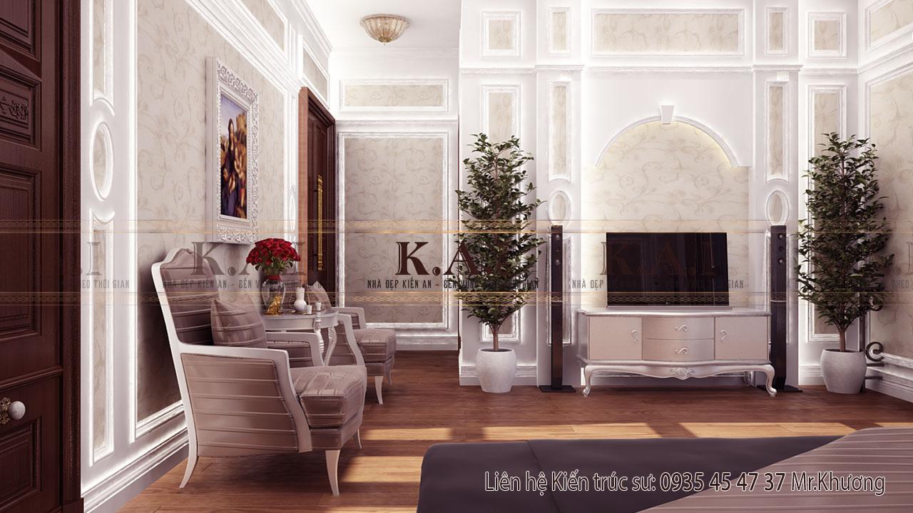 Thiết kế nội thất biệt thự vườn 2 tầng hiện đại tại Long An