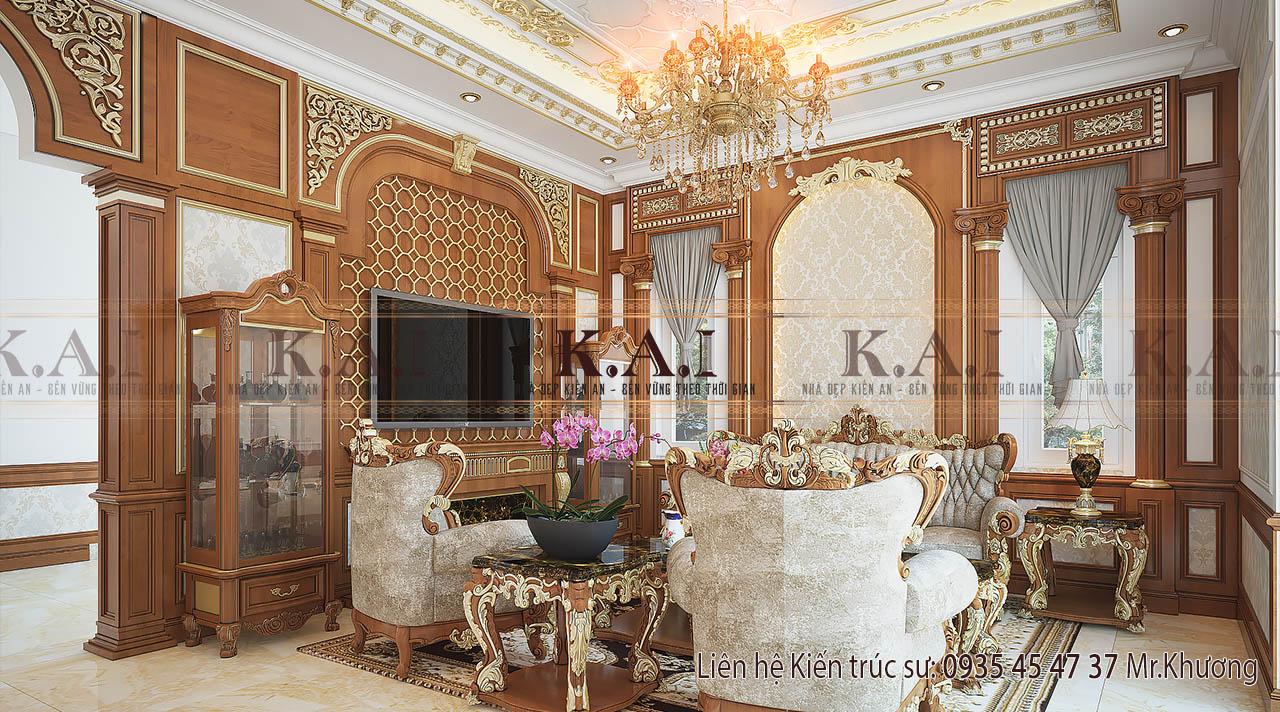thiết kế nội thất cho nhà biệt thự - phòng khách