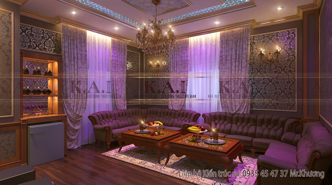 thiết kế nội thất cho nhà biệt thự -phòng karaoke