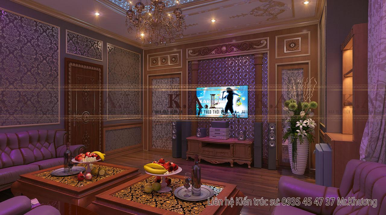 thiết kế nội thất cho nhà biệt thự - phòng karaoke