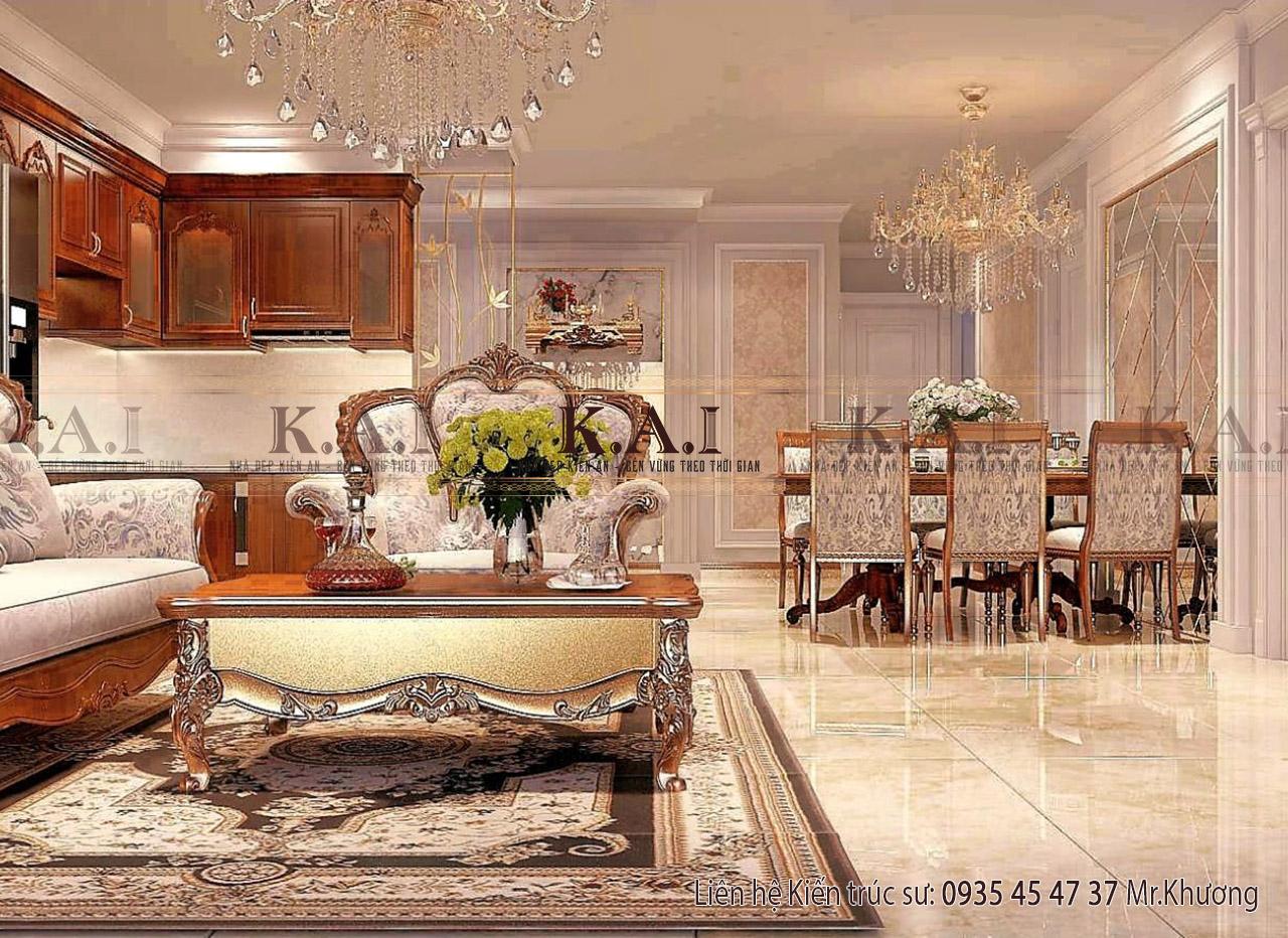 Phòng khách chung cư đẹp