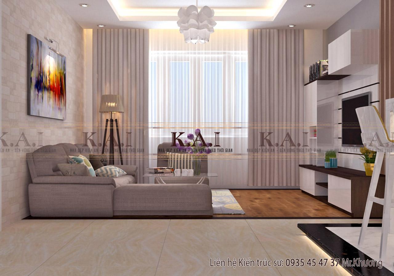 Phòng khách - thiết kế nội thất chung cư