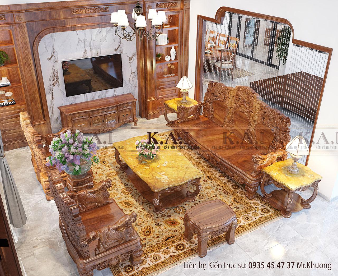 đồ gỗ nội thất tân cổ điển